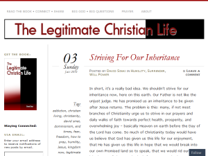 The Legitimate Christian Life