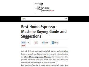 Best Home Espresso Machine Buying Guide and Suggestions Blogging Fusion Blog Directory