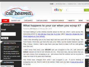 My Car Heaven Blogging Fusion Blog Directory