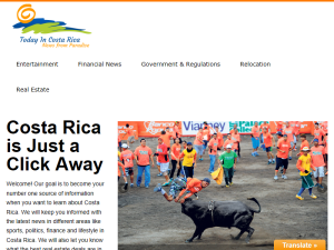 Today In Costa Rica Blogging Fusion Blog Directory