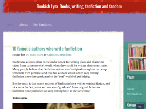 Bookish Lynx Blogging Fusion Blog Directory