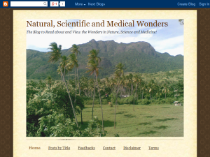 Natural Scientific and Medical Wonders Blogging Fusion Blog Directory