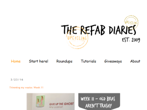 The ReFab Diaries Blogging Fusion Blog Directory