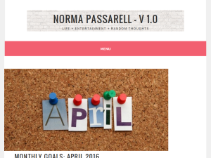 NORMA PASSARELL — Life + Entertainment + Random Thoughts Blogging Fusion Blog Directory