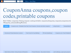 CouponAnna coupons, coupon codes, printable coupons