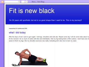 Fit is new black Blogging Fusion Blog Directory