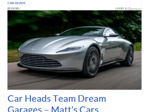 Car Heads Blogging Fusion Blog Directory