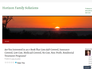 Horizon Family Solutions Blogging Fusion Blog Directory
