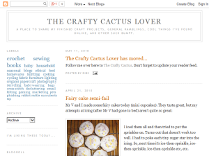 The Crafty Cactus Lover Blogging Fusion Blog Directory