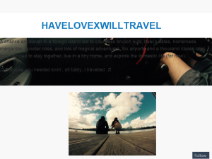 HAVELOVEXWILLTRAVEL Blogging Fusion Blog Directory