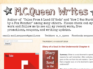 McQueen Writes Blogging Fusion Blog Directory