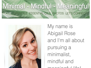 Minimal Mindful Meaningful Blogging Fusion Blog Directory