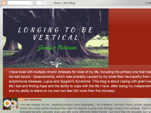Longing to Be Vertical: Living with Chronic Illness Blogging Fusion Blog Directory