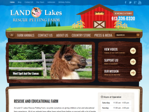 Land O' Lakes Rescue Petting Farm Blogging Fusion Blog Directory