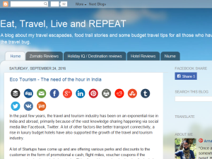 Eat, Travel, Live and REPEAT Blogging Fusion Blog Directory