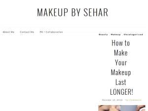 Makeup By Sehar Blogging Fusion Blog Directory
