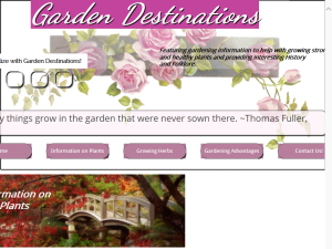 Garden Destinations Blogging Fusion Blog Directory