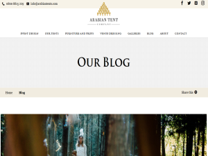 Arabian Tent Company Blog Blogging Fusion Blog Directory