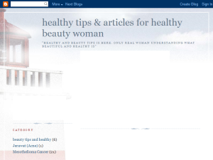 Healthy tips and articles for healthy beauty woman Blogging Fusion Blog Directory