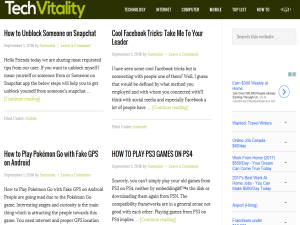 Tech vitality Blogging Fusion Blog Directory