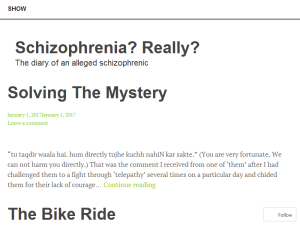 Schizophrenia? Really? Blogging Fusion Blog Directory