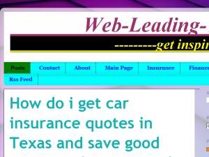 Webleadingtips: An Insurance and Finance blog