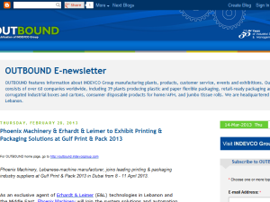Blogging Fusion Blog Directory SOM Winners INDEVCO Group OUTBOUND E-newsletter