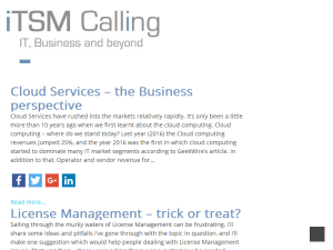 ITSM Calling Blogging Fusion Blog Directory