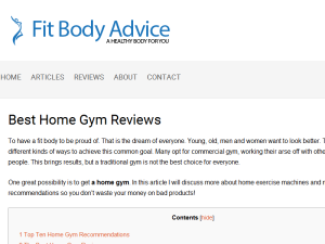 Fit Body Advice Blogging Fusion Blog Directory