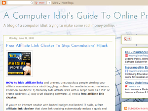 A Computer Idiot's Guide to Online Profits Blogging Fusion Blog Directory