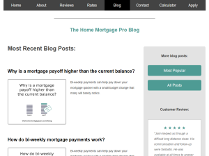 The Home Mortgage Pro Blog Blogging Fusion Blog Directory