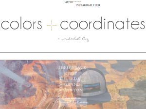 Colors and Coordinates Blogging Fusion Blog Directory