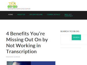 Blog | Transcription Certification Institute Blogging Fusion Blog Directory