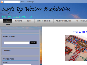 Surf's Up Authors' Bookshelves Blogging Fusion Blog Directory