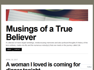 Musings of a True Believer Blogging Fusion Blog Directory