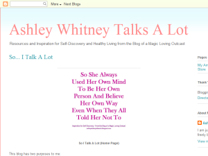 Ashley Whitney Talks A Lot Blogging Fusion Blog Directory