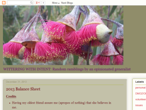 Wittering with Intent Blogging Fusion Blog Directory