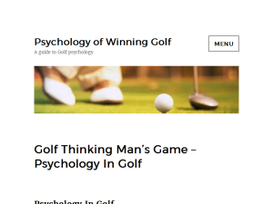 Psychology of Winning Golf Blogging Fusion Blog Directory