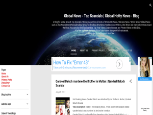 Global News - Top Scandals | Global Hotty News - Blog Blogging Fusion Blog Directory