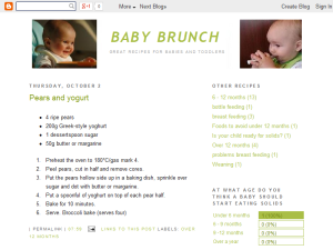 Baby Brunch Blogging Fusion Blog Directory