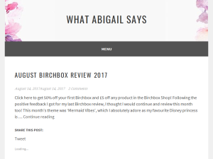 What Abigail Says Blogging Fusion Blog Directory