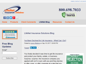 LifeNet Insurance Solutions Blog Blogging Fusion Blog Directory