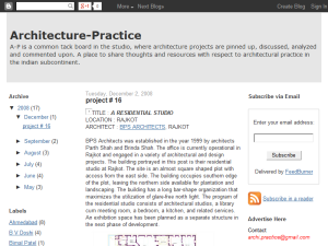 Architecture-Practice Blogging Fusion Blog Directory