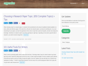 CopyCrafter Blog Blogging Fusion Blog Directory