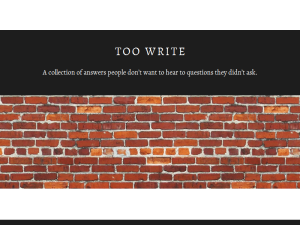 Too Write Blogging Fusion Blog Directory