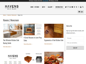 Havens - The Sink Blog