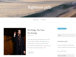 Righteous path Blogging Fusion Blog Directory