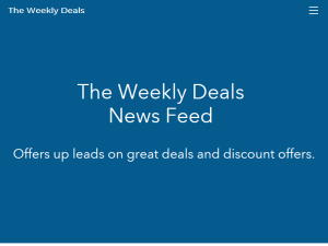 The Weekly Deals News Feed Blogging Fusion Blog Directory