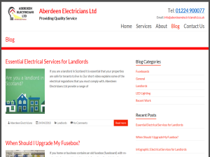 Aberdeen Electricians Blog Blogging Fusion Blog Directory