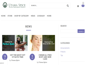 Utama Spice Natural Beauty and Aromatherapy Blog and News Blogging Fusion Blog Directory